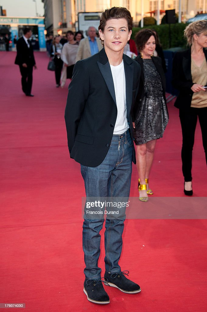 <a gi-track='captionPersonalityLinkClicked' href=/galleries/search?phrase=Tye+Sheridan&family=editorial&specificpeople=7807719 ng-click='$event.stopPropagation()'>Tye Sheridan</a> arrives at the premiere of the movie 'Joe' during the 39th Deauville American film festival on September 2, 2013 in Deauville, France.