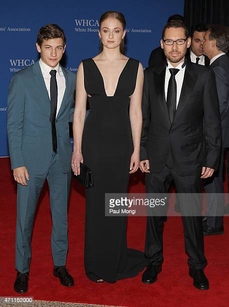 Tye Sheridan Sophie Turner and Bryan Singer attend the 101st Annual White House Correspondents' Association Dinner at the Washington Hilton on April...