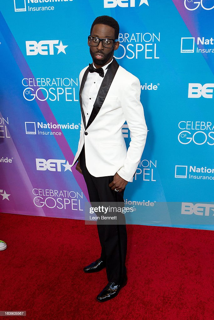 Tye Tribbett arrives at the BET Network's 13th Annual 'Celebration of Gospel' at Orpheum Theatre on March 16, 2013 in Los Angeles, California.