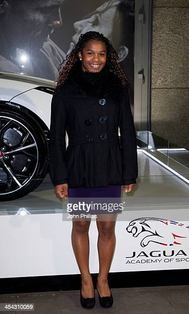 Tyesha Matties attends the Jaguar Academy of Sport annual awards at The Royal Opera House on December 8 2013 in London England