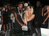 Tyga and Kylie Jenner are seen on August 09 2015 in Los Angeles California
