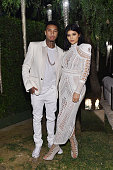 Tyga and Kylie Jenner attend Olivier Rousteing Beats Celebrate In Los Angeles at Private Residence on October 23 2015 in Los Angeles California