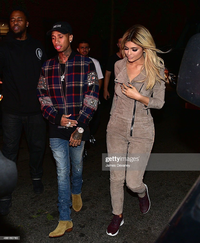Tyga and Kylie Jenner seen on the streets of Manhattan on September 13 2015 in New York City