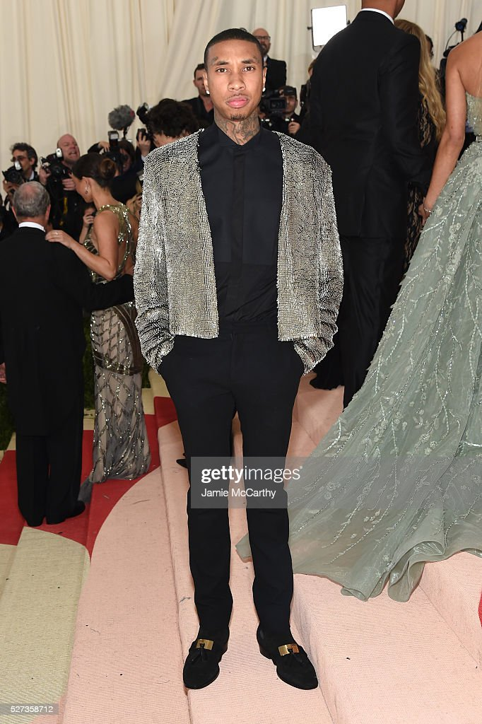 Tyga attends the 'Manus x Machina: Fashion In An Age Of Technology' Costume Institute Gala at Metropolitan Museum of Art on May 2, 2016 in New York City.