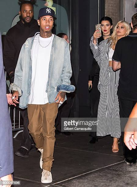 Tyga Kendall Jenner and Kylie Jenner are seen arriving to Kendall Kylie PopUp Launch at Samsung 837 on September 7 2016 in New York City