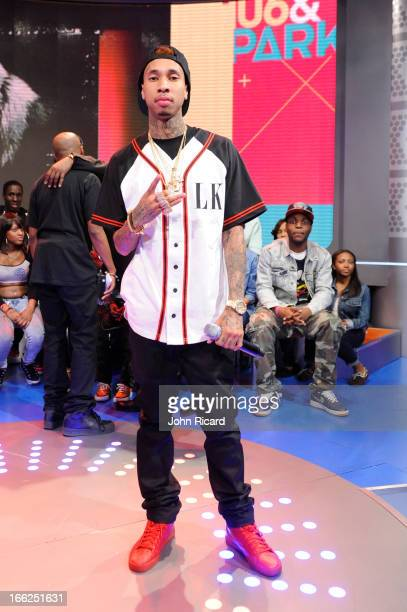 Tyga visits BET's 106 Park at BET Studios on April 10 2013 in New York City