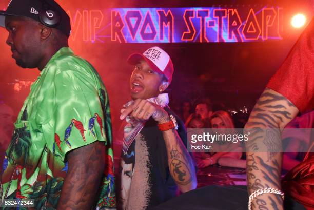 Tyga's DJ and Rap artist Tyga attend the Tyga Party at VIP Room as part of SaintTropez Party On French Riviera on August 15 2017 in SaintTropez France