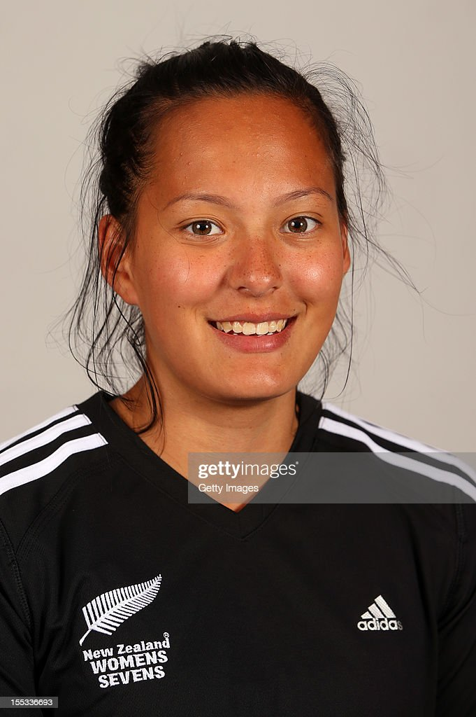 Tyla Nathan-Wong poses for a headshot during the New Zealand Womens Rugby Sevens headshot session at Pulman Lodge on November 3, 2012 in Auckland, New Zealand.