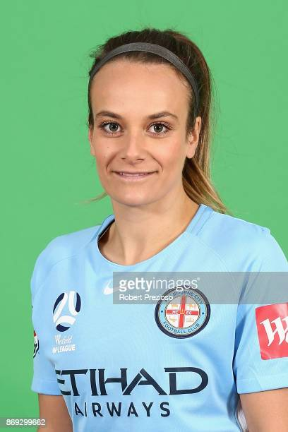 TylaJay Vlajnic poses during the Melbourne City WLeague headshots session on November 2 2017 in Melbourne Australia