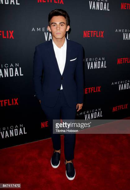 Tyler Alvarez attends the premiere of Netflix's 'American Vandal' at ArcLight Hollywood on September 14 2017 in Hollywood California