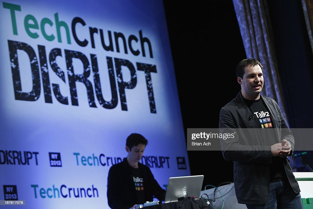 Tyler Auten and Heath Aherns presents Talkz onstage at the TechCrunch Disrupt NY 2013 at The Manhattan Center on April 30, 2013 in New York City.