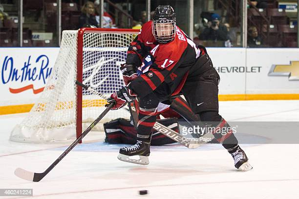 Tyler Benson of Canada Black skates against Russia during the World Under17 Hockey Challenge on November 2 2014 at the RBC Centre in Sarnia Ontario