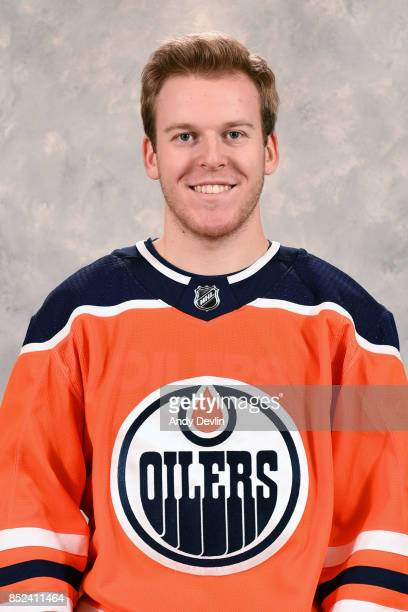 Tyler Benson of the Edmonton Oilers poses for his official headshot for the 20172018 season on September 7 2017 at Rogers Place in Edmonton Alberta...