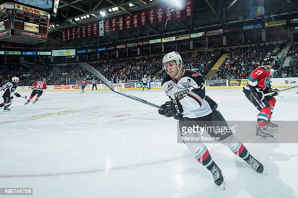 Tyler Benson of Vancouver Giants skates against the Kelowna Rockets on November 11 2015 at Prospera Place in Kelowna British Columbia Canada