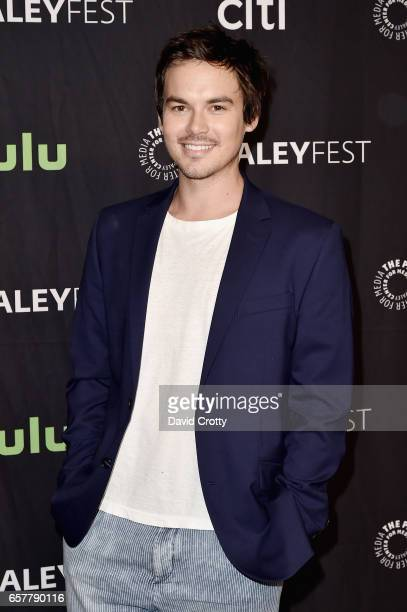 Tyler Blackburn attends PaleyFest Los Angeles 2017 'Pretty Little Liars' at Dolby Theatre on March 25 2017 in Hollywood California