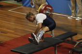 Tyler Brey in USA competes in Mens Powerlifting 60 to 67kg during the Para Pan American Games Guadalajara 2011 at Weightlifting Forum on November 17...