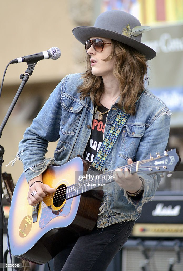 Tyler Bryant performs as part of the 'Beards N' Beck Tour 2014' at The Mountain Winery on August 12, 2014 in Saratoga, California.