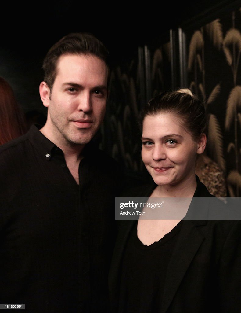 Tyler Burrow (L) and Stefanie Skinner attend the FairVote Benefit hosted by Krist Novoselic and Rock Paper Photo at No.8 on April 11, 2014 in New York City.
