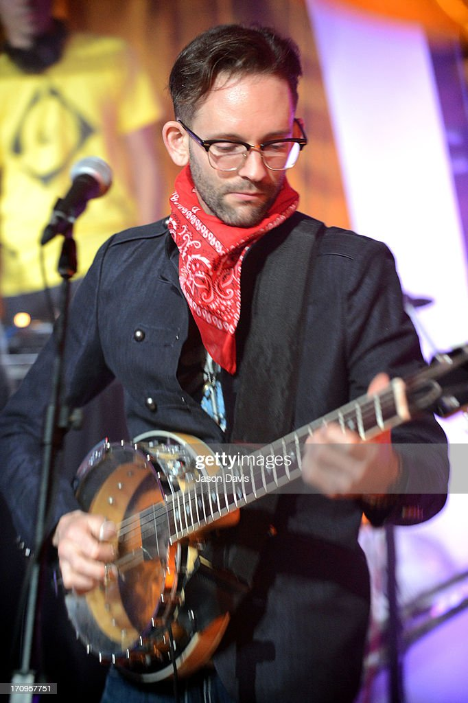 Tyler Cain of Electro Shine performs during the MTV, VH1, CMT & LOGO 2013 O Music Awards on June 20, 2013 in Nashville, Tennessee.