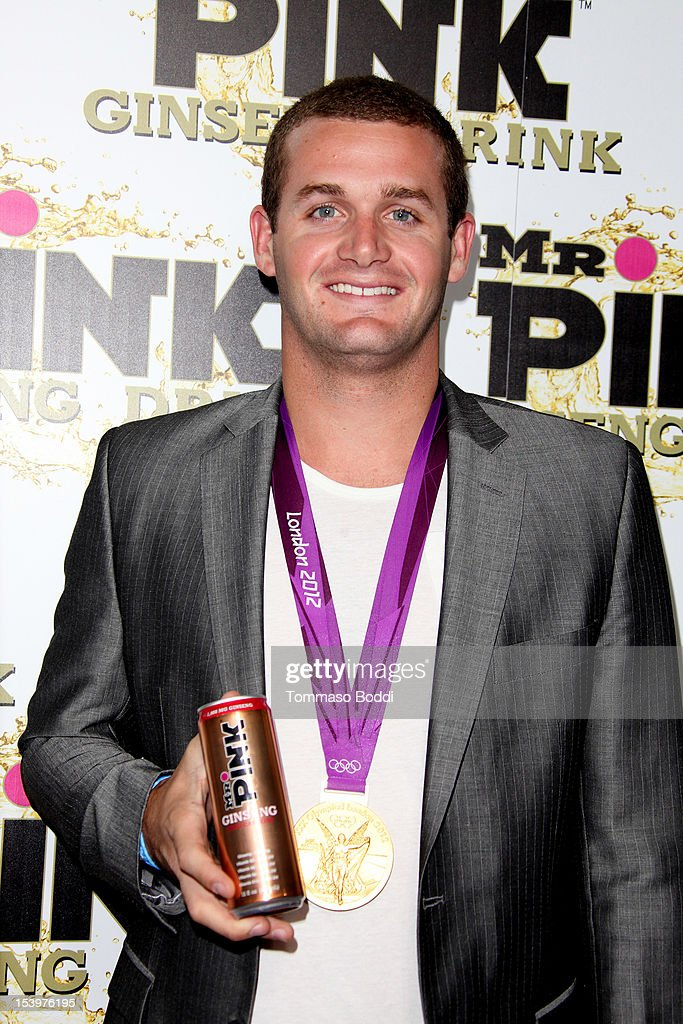 <a gi-track='captionPersonalityLinkClicked' href=/galleries/search?phrase=Tyler+Clary&family=editorial&specificpeople=5419589 ng-click='$event.stopPropagation()'>Tyler Clary</a> attends the Mr. Pink ginseng drink launch party held at the Regent Beverly Wilshire Hotel on October 11, 2012 in Beverly Hills, California.
