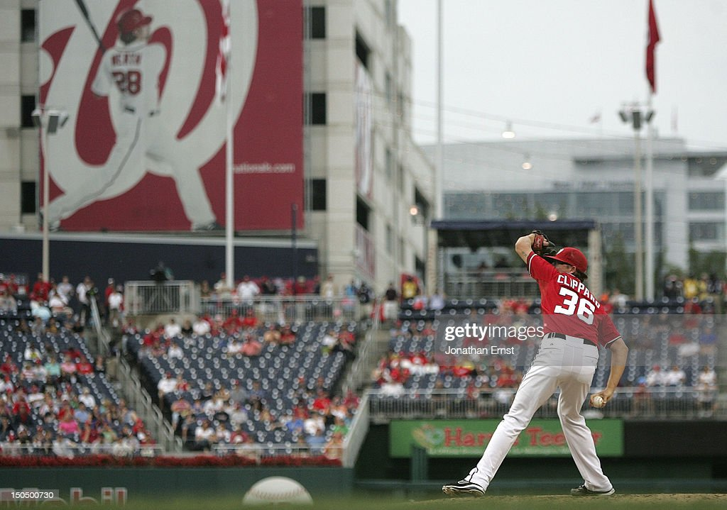 <a gi-track='captionPersonalityLinkClicked' href=/galleries/search?phrase=Tyler+Clippard&family=editorial&specificpeople=4172556 ng-click='$event.stopPropagation()'>Tyler Clippard</a> #36 of the Washington Nationals pitches against the New York Mets during the ninth inning at Nationals Park on August 19, 2012 in Washington, DC.