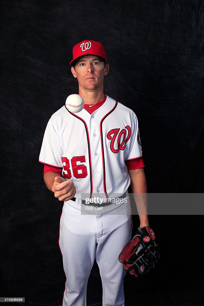 Tyler Clippard #36 of the Washington Nationals poses for a portrait at Space Coast Stadium during photo day on February 23, 2014 in Viera, Florida.