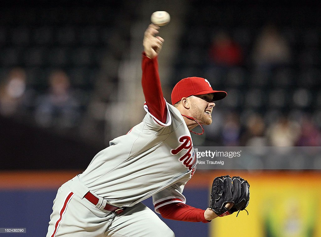 Tyler Cloyd #50 of the Philadelphia Phillies pitches against the New York Mets at Citi Field on September 20, 2012 in the Flushing neighborhood of the Queens borough of New York City.