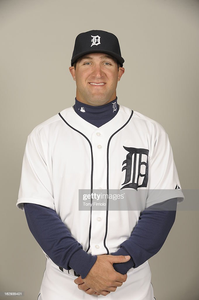 Tyler Collins #72 of the Detroit Tigers poses during Photo Day on February 19, 2013 at Joker Marchant Stadium in Lakeland, Florida.