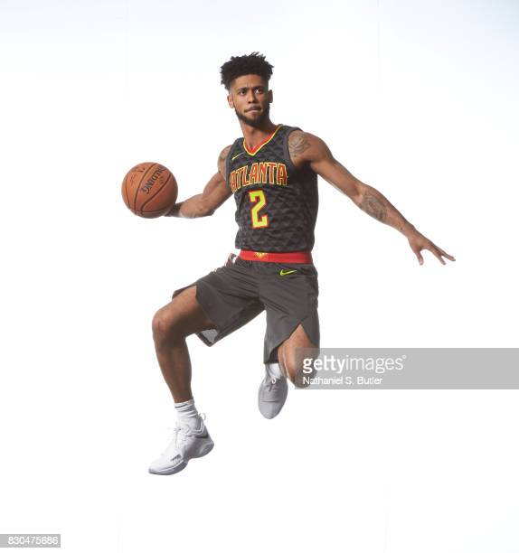 Tyler Dorsey of the Atlanta Hawks poses for a photo during the 2017 NBA Rookie Shoot on August 11 2017 at the Madison Square Garden Training Center...