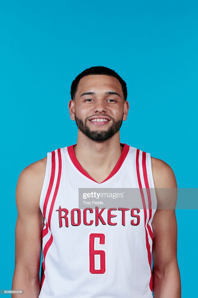 Tyler Ennis #6 of the Houston Rockets poses for a headshot during the 2016-2017 Houston Rockets Media Day on September 23, 2016 at the Toyota Center in Houston, Texas.