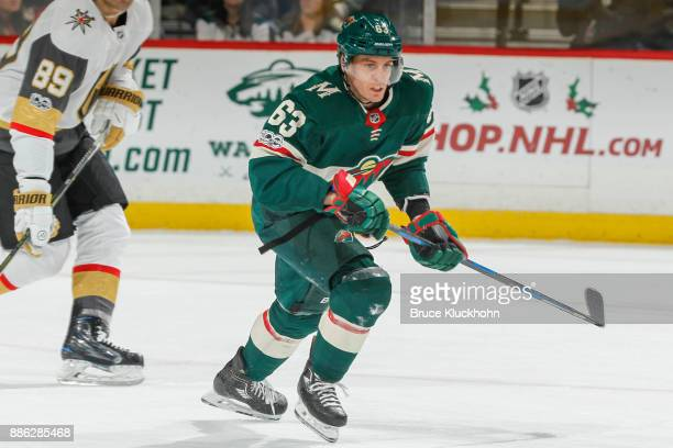 Tyler Ennis of the Minnesota Wild skates against the Vegas Golden Knights during the game at the Xcel Energy Center on November 30 2017 in St Paul...