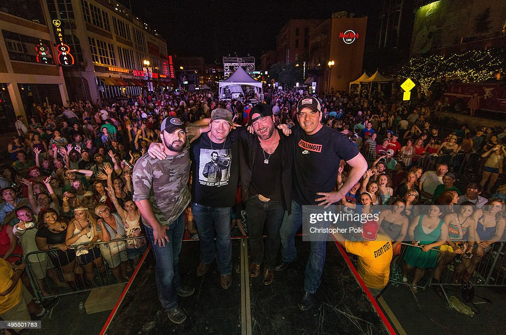 Tyler Farr, Jerrod Neimann, Lee Brice and Rodney Atkins perform during Rodney Atkins 4th Annual Music City Gives Back on June 3, 2014 in Nashville, Tennessee.