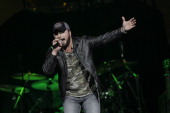 Tyler Farr performs live at Canadian Tire Centre on February 9 2014 in Kanata Canada