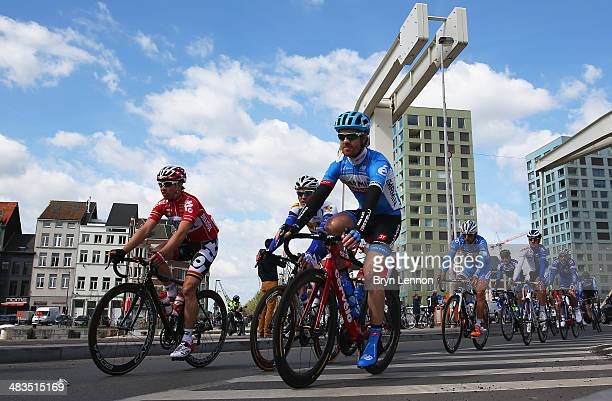 Tyler Farrar of the United States and Garmin Sharp rides in the bunch during the 102nd edition of the Scheldeprijs Cycle Race a 200km race from...