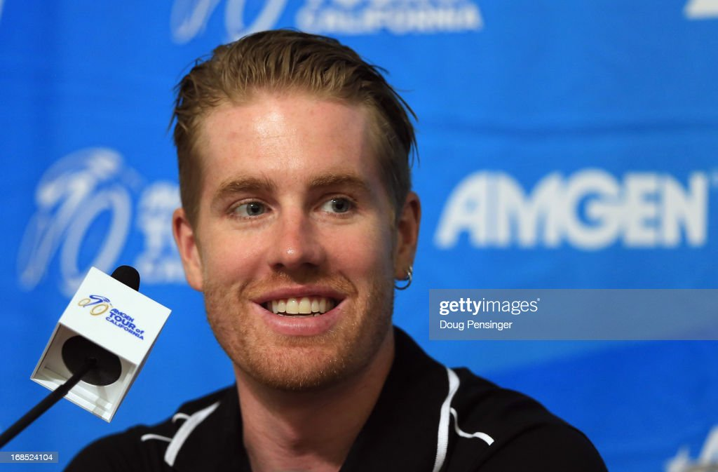 <a gi-track='captionPersonalityLinkClicked' href=/galleries/search?phrase=Tyler+Farrar&family=editorial&specificpeople=705251 ng-click='$event.stopPropagation()'>Tyler Farrar</a> of the USA riding for Team Garmin-Sharp addresses the media during the kick off press conference for the 2013 AMGEN Tour of California on May 10, 2013 in Escondido, United States.