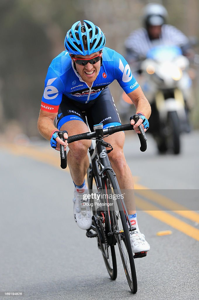 <a gi-track='captionPersonalityLinkClicked' href=/galleries/search?phrase=Tyler+Farrar&family=editorial&specificpeople=705251 ng-click='$event.stopPropagation()'>Tyler Farrar</a> riding for Garmin-Sharp chases back to the front of the race after a mechanical during Stage Five of the 2013 Amgen Tour of California from Santa Barbara to Avila Beach on May 16, 2013 in Avila Beach, California.