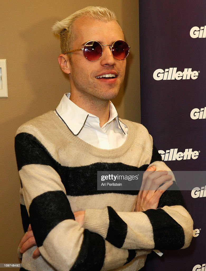 Tyler Glenn of Neon Trees attends Gillette Ask Couples at Sundance to 'Kiss & Tell' if They Prefer Stubble or Smooth Shaven - Day 2 on January 19, 2013 in Park City, Utah.