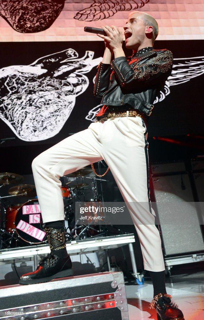 Tyler Glenn of Neon Trees performs at the KROQ Acoustic Xmas show at Gibson Amphitheatre on December 9, 2012 in Universal City, California.
