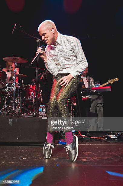 Tyler Glenn of Neon Trees performs on stage at O2 Islington Academy on September 15 2014 in London United Kingdom