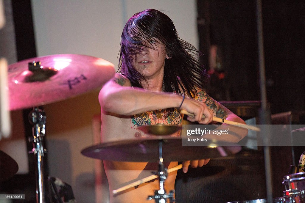 Tyler Gloyd of The Relapse Symphony performs at The Emerson Theater on November 30, 2013 in Indianapolis, Indiana.