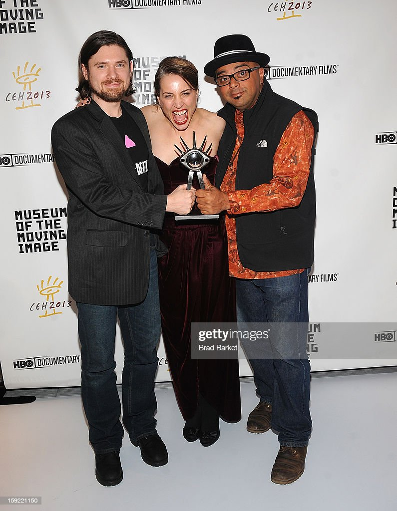 Tyler H. Walk, Esther Robinson and T. Woody Richman attend 6th Annual Cinema Eye Honors For Nonfiction Filmmaking at Museum of the Moving Image on January 9, 2013 in New York City.