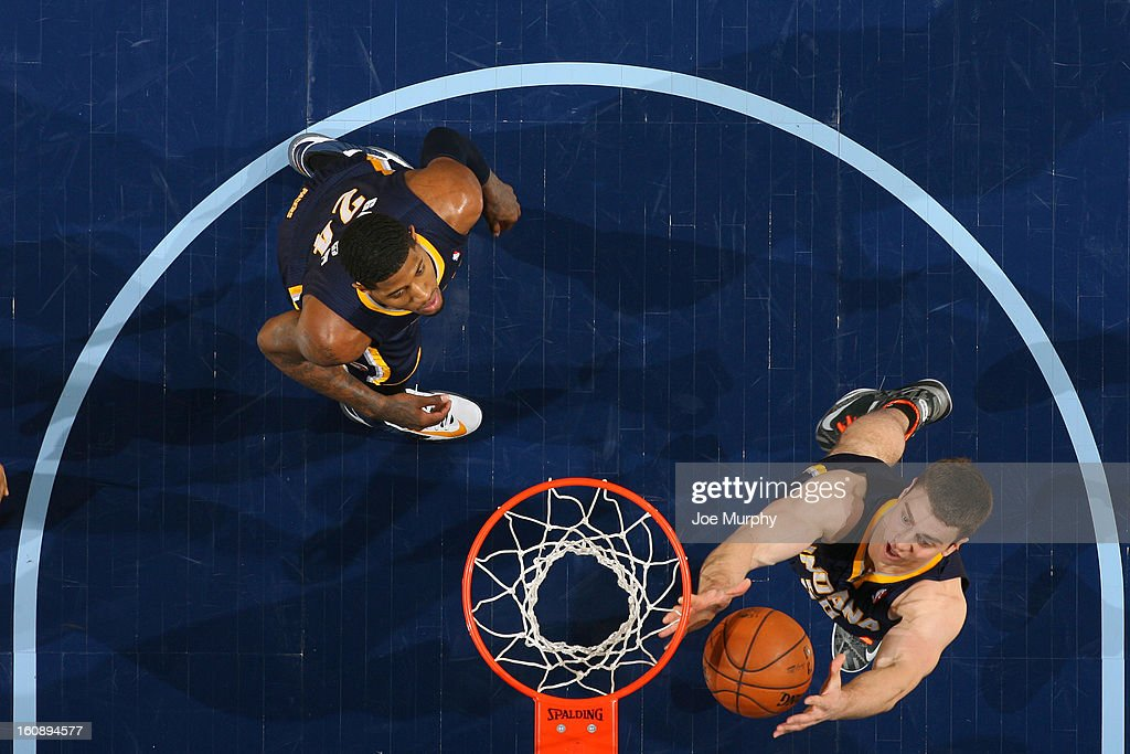 <a gi-track='captionPersonalityLinkClicked' href=/galleries/search?phrase=Tyler+Hansbrough&family=editorial&specificpeople=642794 ng-click='$event.stopPropagation()'>Tyler Hansbrough</a> #50 of the Indiana Pacers grabs a rebound against the Memphis Grizzlies on January 21, 2013 at FedExForum in Memphis, Tennessee.