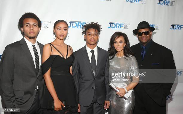 Tyler Harris Bella Harris Max Harris Lisa Harris and producer Jimmy Jam attend the JDRF LA Chapter's Imagine Gala held at The Beverly Hilton Hotel on...