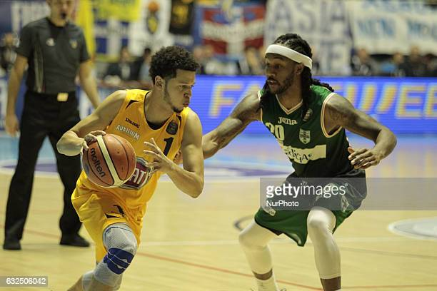 Tyler Harvey during Italy Lega Basket of Serie A match between Fiat Torino v Sidigas Avellino in Turin on january 22 2017