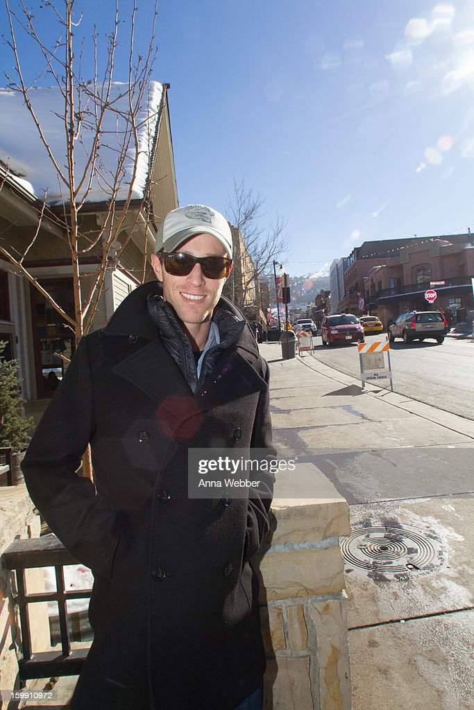 Tyler Hezzlewood, Second AC camera man on Castle, wearing Panavision hat, Reiss peacoat, Club Monaco tee, Marmot vest, Ray Ban sunglasses, AG jeans, and Patagonia boots on January 22, 2013 in Park City, Utah.
