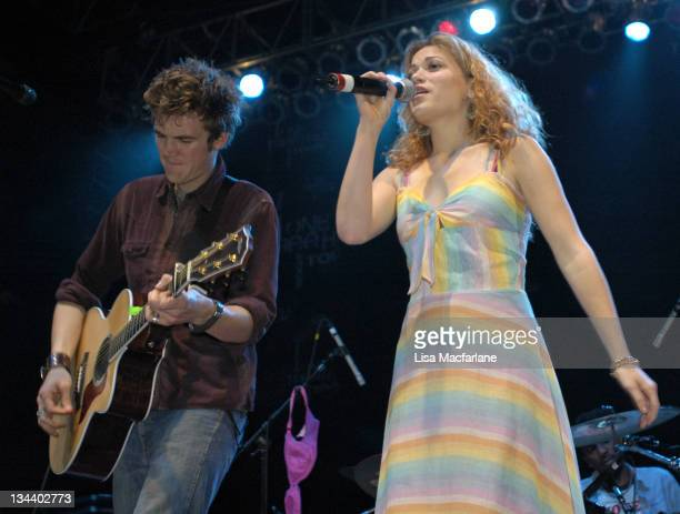 Tyler Hilton and Bethany Joy Lenz during The WB's 'One Tree Hill' Tour at Roseland Ballroom in New York City at Roseland Ballroom in New York City...