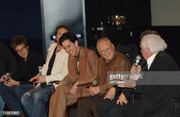 Tyler Hilton Larry Bagby Dan John Miller Gene Beley Bob Wootton and WS Holland celebrate the DVD release of 'Walk the Line' at a special Arclight...