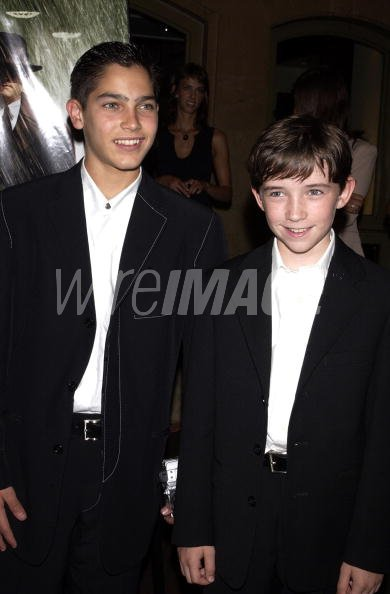 Tyler Hoechlin And Liam Aiken During Road To Perdition New York