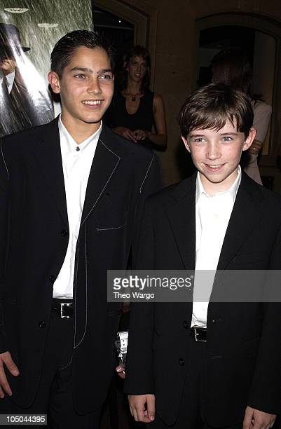 Tyler Hoechlin and Liam Aiken during 'Road to Perdition' New York Premiere After Party at Grand Central Station in New York City New York United...