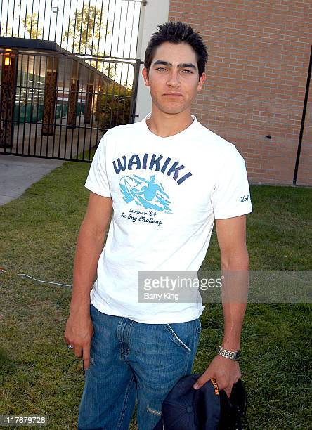 Tyler Hoechlin during Hollywood Knights Basketball Game Fullerton at Troy High School in Fullerton California United States